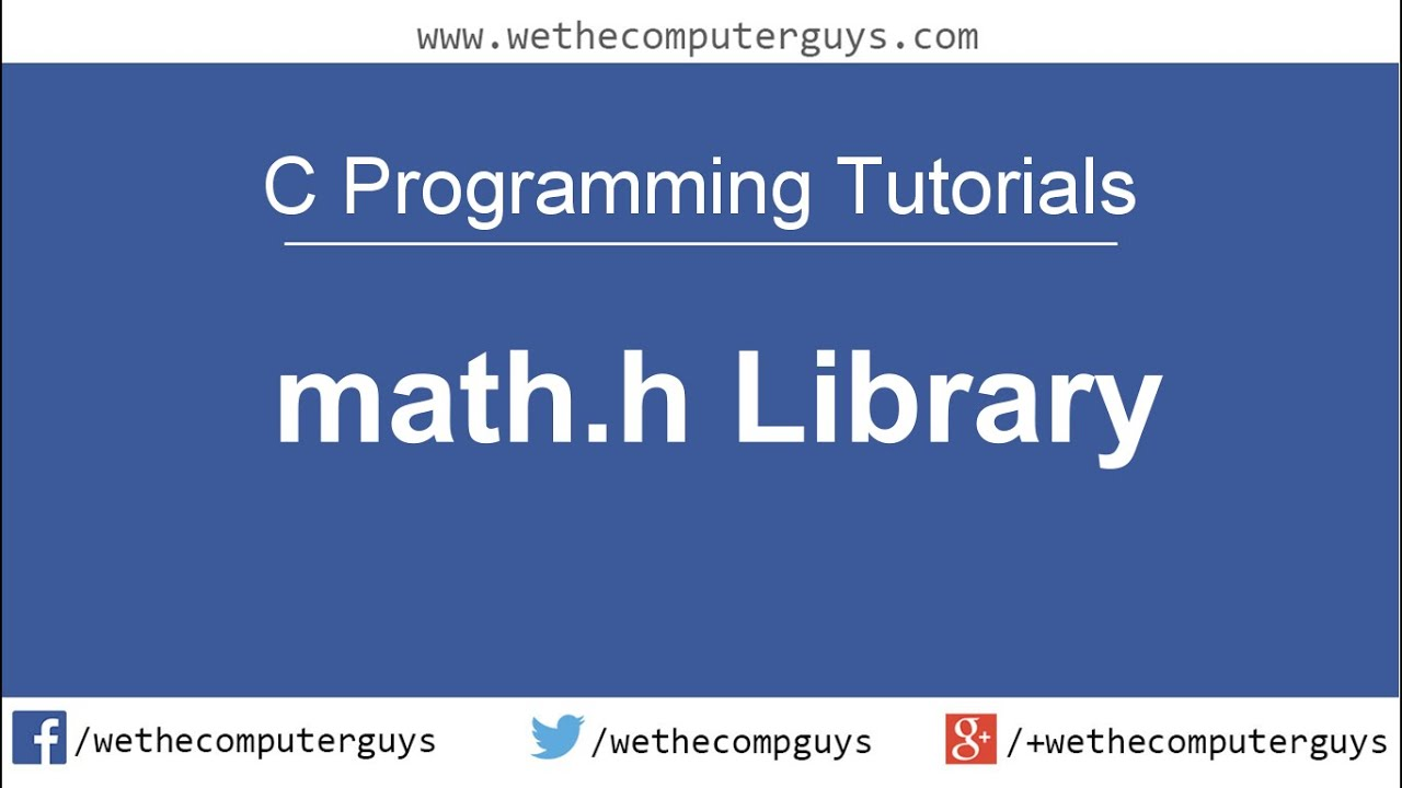 c programming language tutorial lect 10 math h library youtube. Black Bedroom Furniture Sets. Home Design Ideas