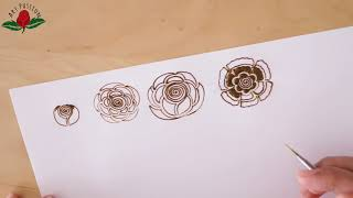 art of applying perfect rose mehandi pattern on hand how to draw