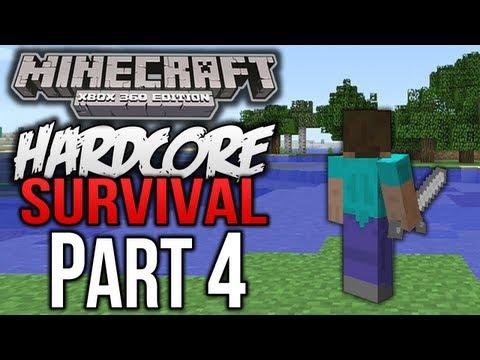 "Minecraft (Xbox 360) - ""Hardcore Survival"" - Part 4 - IRON ARMOR"