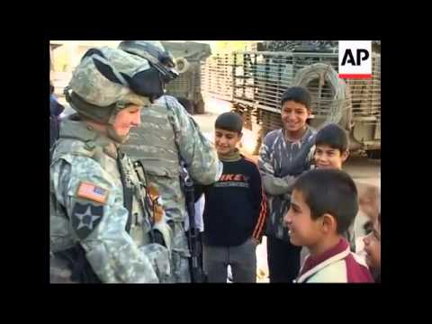 US forces patrol Baghdad to discuss concerns and fears with locals