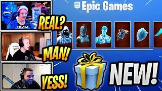 STREAMERS Réagir 'NEW' LÉGENDES CONGELÉES PACK! (Chevalier rouge, Garde d'Amour et Corbeau) paquet!! - Fortnite