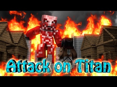 Minecraft | ATTACK ON TITAN MOD Showcase! (Titan, Attack on Titan, Colossal)