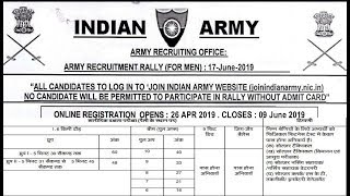 Join Indian Army Rally Bharti 2019 Apply Online Soldier GD in West bengal Army bharti