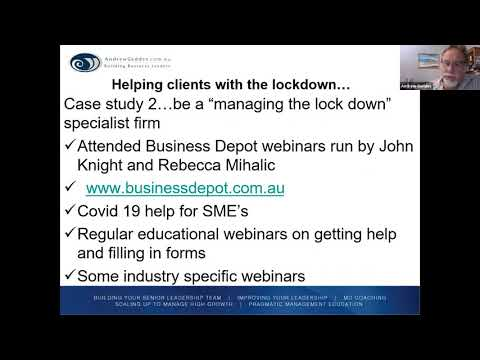 COVID 19 Survival Panel Webinar For Accountants, Financial Advisers And Bookkeepers -   Session 3