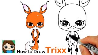 How to Draw Miraculous Ladybug Kwami Trixx Easy