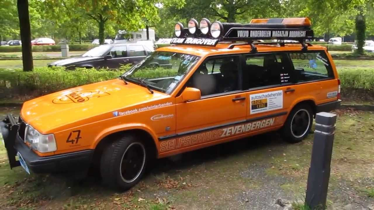 Volvo 940 safari rally estate for expedition trials @ Volvobeurs car event 2013 - YouTube
