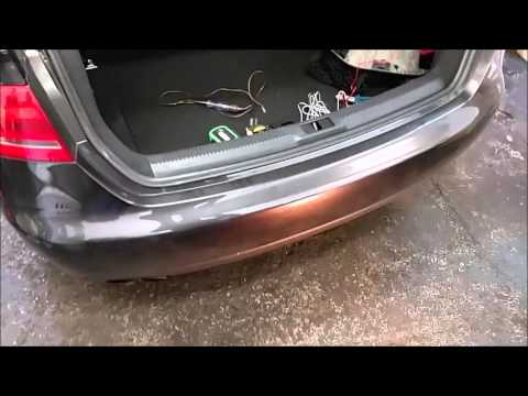 Rear Parking Sensors On Audi A4 2009 Installation Youtube