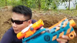 Action movies Nerf War   Girl beautiful assassin and special forces revenge