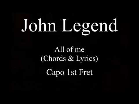 John Legend  All of me chords and lyrics Guitar