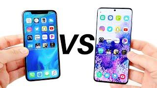 iPhone X vs Galaxy S20 Speed Test!