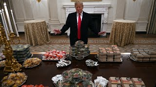 Trump serves fast food dinner to Clemson Tigers football team at White House