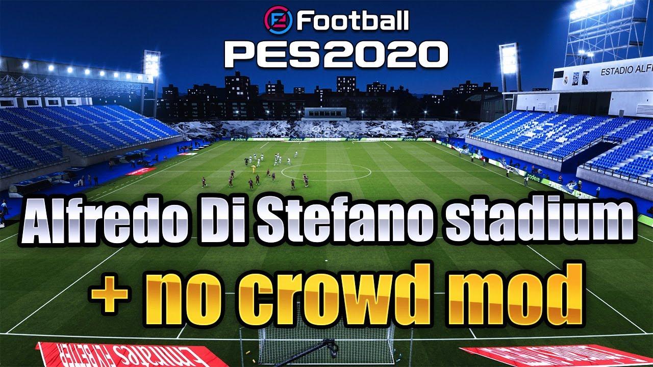 PES 2020 Realism / No Crowd mod / Estadio Alfredo Di Stefano