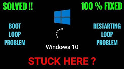 Solved!! How to Fix Windows 10 stuck on restarting screen. 100% working solution!