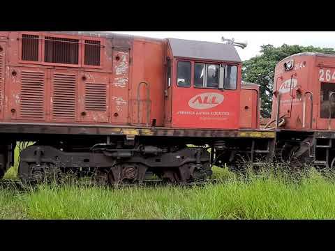 Ferrovia em Cafelândia sp 29.1.2020 Locomotiva U20