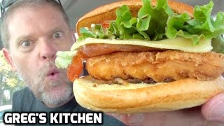 NEW McDonalds® CRISPY CHICKEN CLUBHOUSE BURGER FOOD REVIEW - Greg's Kitchen