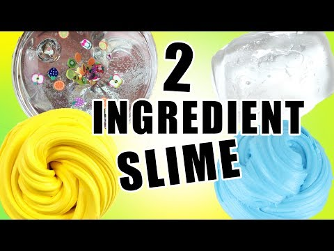 2 Ingredient Slime Recipes Tested!!! - HOW TO MAKE SLIME WITHOUT BORAX!!!