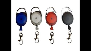 Carabiner Name Tag Reel Clips - Id Badge Holder Reel With Carabiner Clip - Retractable Cord