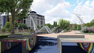 Проект благоустройства набережной реки Смоленки в Санкт-Петербурге