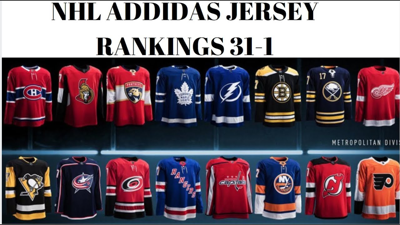 RANKING NHL ADIDAS JERSEYS UNIFORMS 31-1 (2017-2018) - YouTube bc1aa7091
