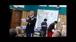 Happy Camp Honors Veterans Dinner Speech Siskiyou County Sheriff Jon Lopey 2012