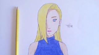 رسم اينو من انمي ناروتو خطوة بخطوة    how to draw ino yamanaka -NARUTO