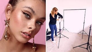 How to Set Up a Home Photography Studio // Equipment I Use & Tips for a Beauty Photography Setup