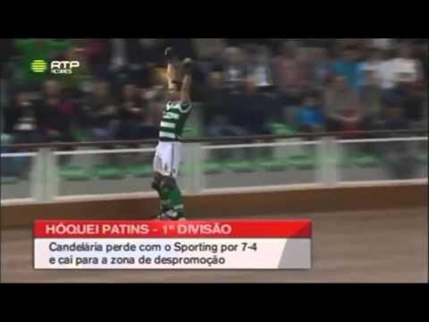 Hóquei Patins :: 05J :: Candelária - 4 x Sporting - 7 de 2015/2016