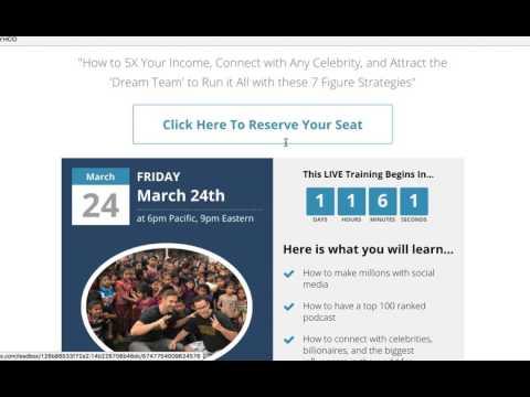 Free Webinar Training Tomorrow For Making Money Online