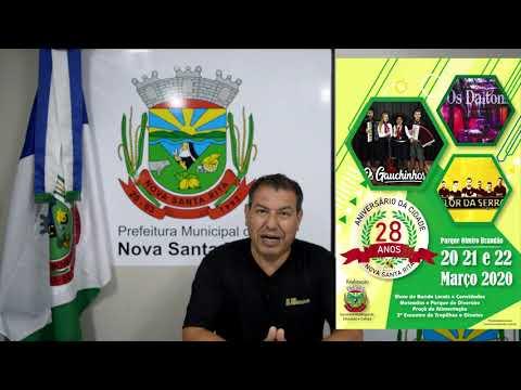 Convite para 28ª Festa de Aniversário de Nova Santa Rita