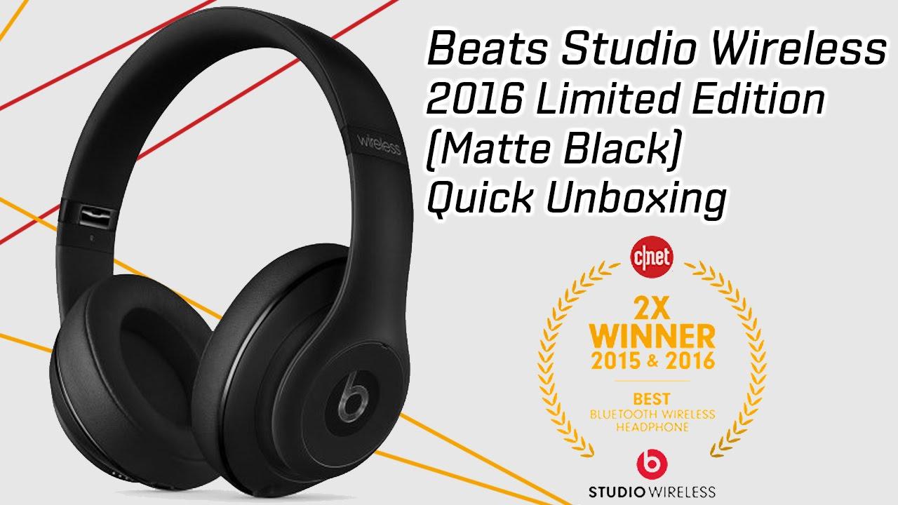 New Beats Studio Wireless Headphones (2016) Unboxing - Limited Edition Matte  Black a5de8a36e