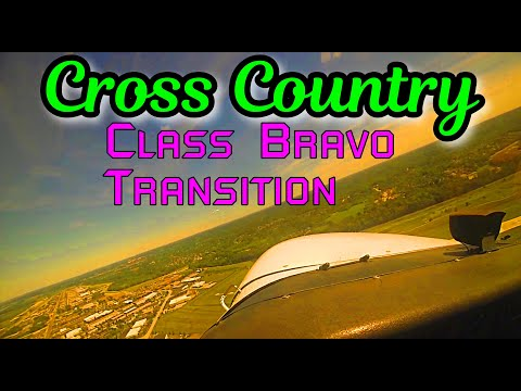 Cross country flight, VFR flight following, ATC communication, Controlled airport (Class D)