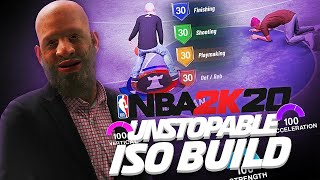 OFFICIAL GMAN PLAYMAKING SHOTCREATOR ISO GOD BUILD ON NBA 2K20!! THIS BUILD IS TOO OVERPOWERED!!