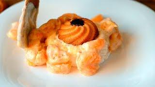 Творожный десерт с мандаринами