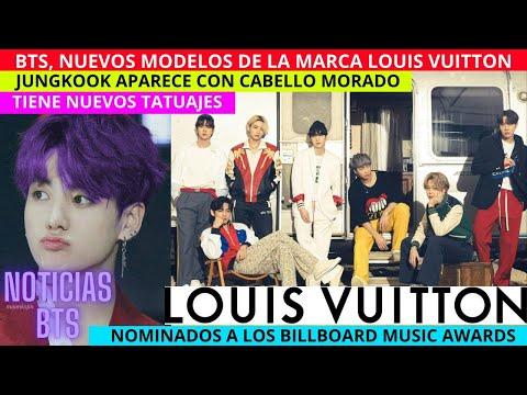 BTS NUEVOS MODELOS de Louis Vuitton / JUNGKOOK con CABELLO MORADO /TIENE NUEVOS TATUAJES / BILLBOARD