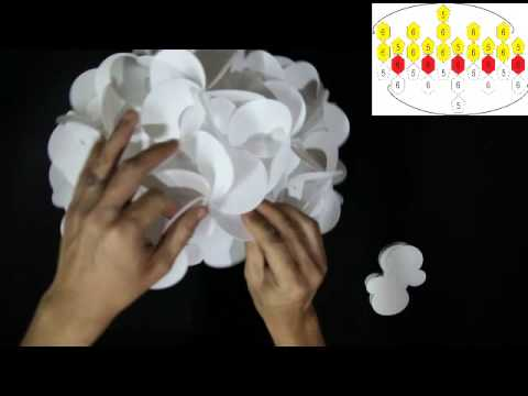 How To Make A 90 Piece Flower Petals Lampshade  Smarty Lamps Video