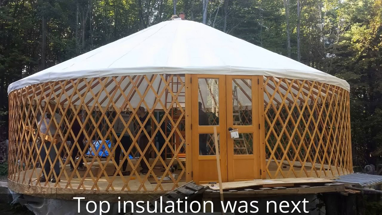 Yurt Raising 30 Foot Pacific Yurt Photo Collection Of