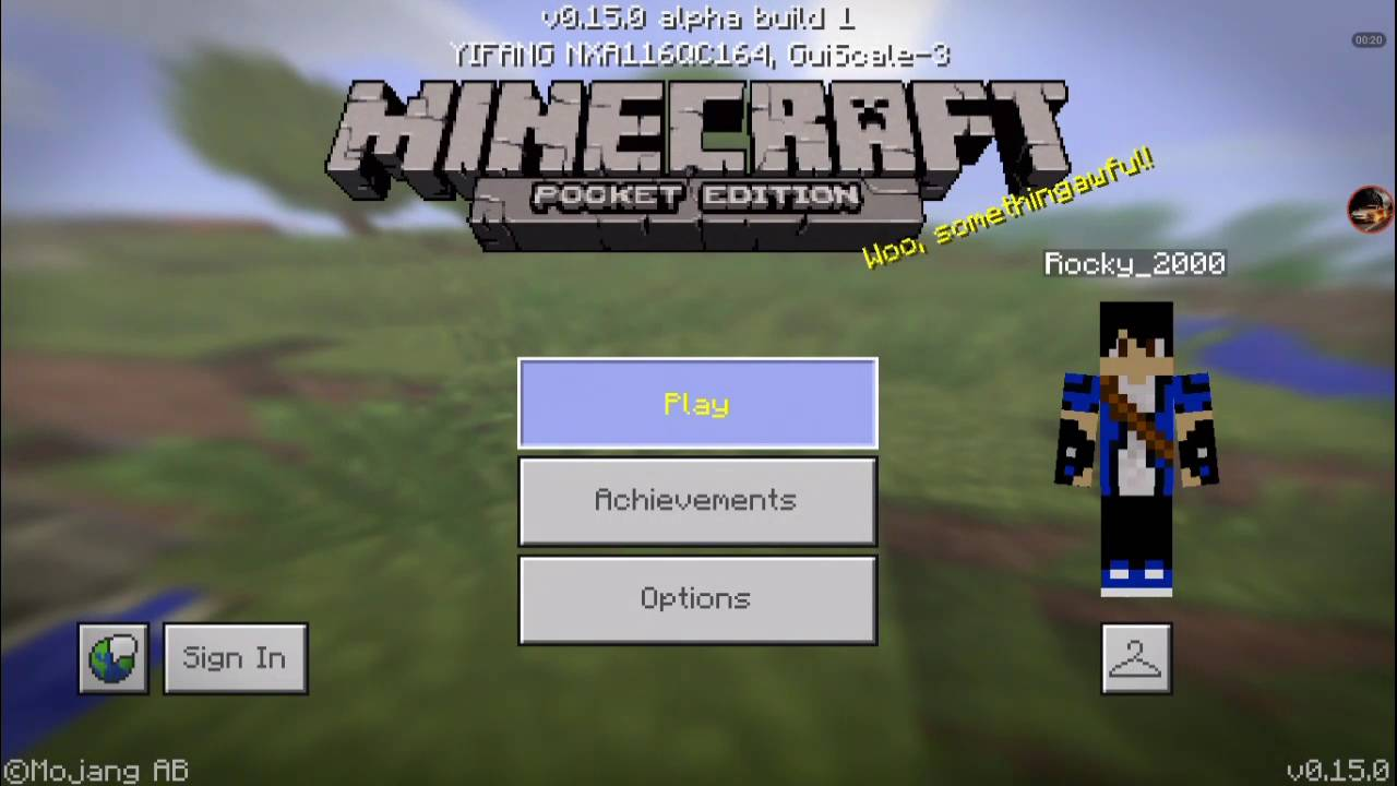 Minecraft pe pocket edition alpha build 1 main for Modern house minecraft pe 0 12 1
