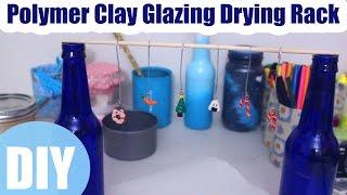 DIY Polymer Clay Glaze Drying Rack How I Glaze & Dry Charms Polymer Clay Crafting Tools