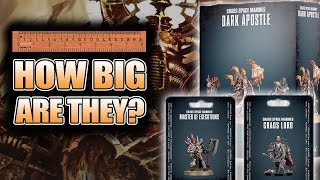 How Big Are The Dark Apostle & Master of Executions Unboxing & Build