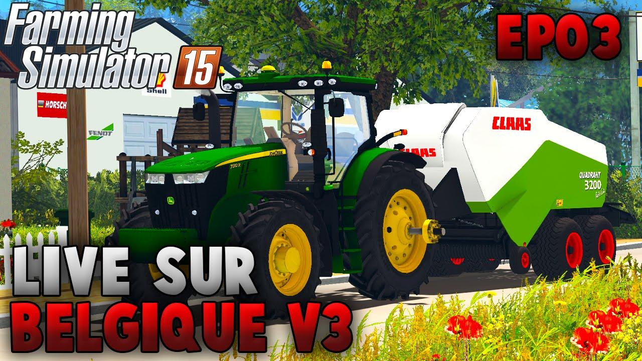farming simulator 15 belgique profonde v3 0 pisode 3 youtube. Black Bedroom Furniture Sets. Home Design Ideas