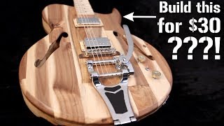 Build your DREAM GUITAR BODY from SCRATCH for $30!!! (feat. Corey Muxlow of Saul Goode Guitars)