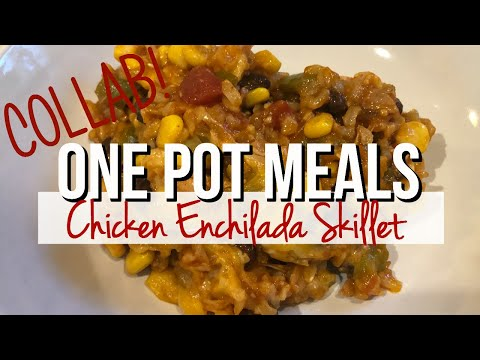 one-pot-meal-collab-|-chicken-enchilada-skillet