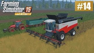 Duże pole, duży kombajn (Farming Simulator 15 GOLD #14), gameplay pl