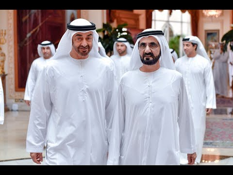 محمد بن راشد ومحمد بن زايد يزوران متحف اللوفر أبوظبي
