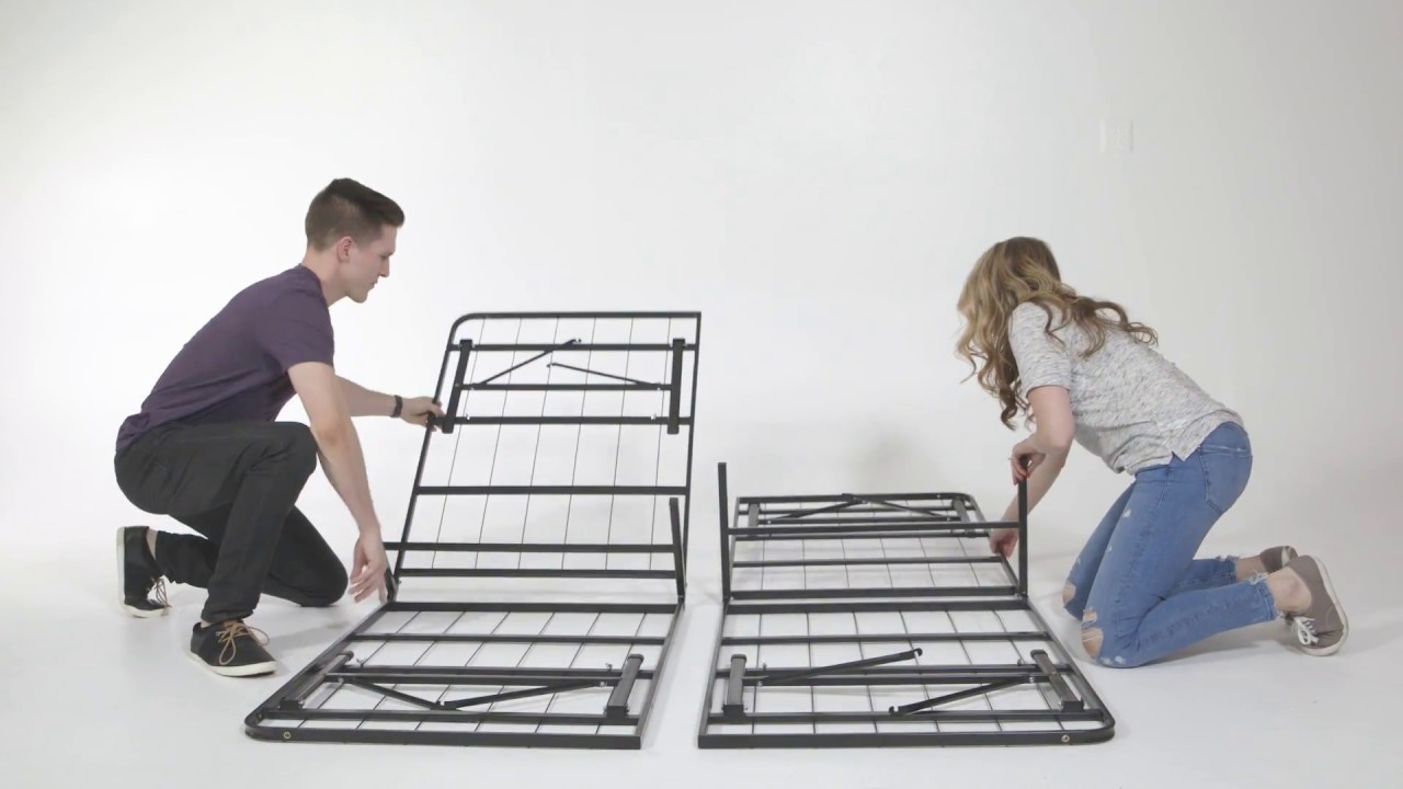 Classic Brands Hercules Platform Metal Bed Frame Assembly ...