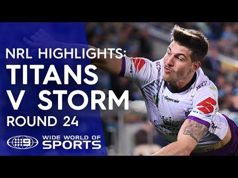 NRL Highlights: Gold Coast Titans v Melbourne Storm - Round 24