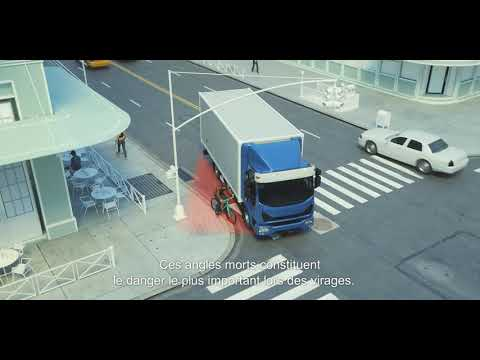 Vidéo Mobileye Shield +™:  Système anticollision pour les véhicules longs – autobus, camions, etc.