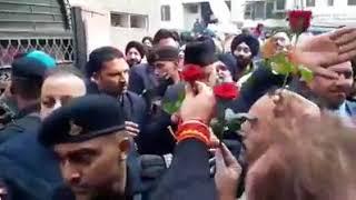 Farooq Abdullah gets rousing reception at Sher-e-Kashmir Bhawan Jammu