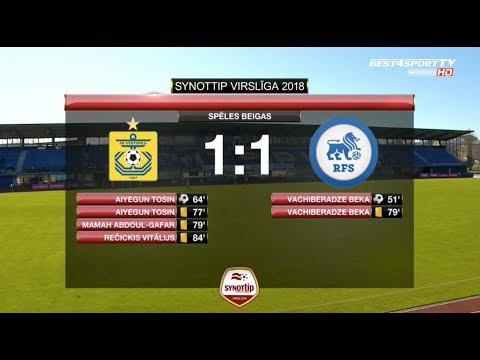 FK Ventspils - RFS 1:1 labākās epizodes (5.mai.)