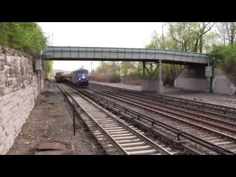 Riverdale Railfaning 5/3/14 - Featuring the Hickory Creek on Empire Service 244